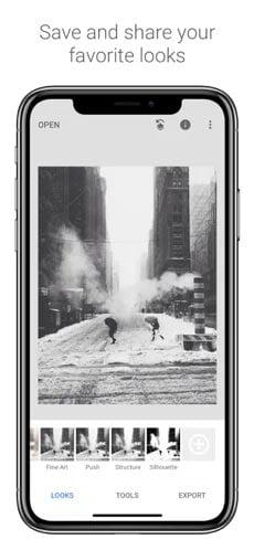 تطبيق Snapseed لتحسين جودة الصور على أيفون