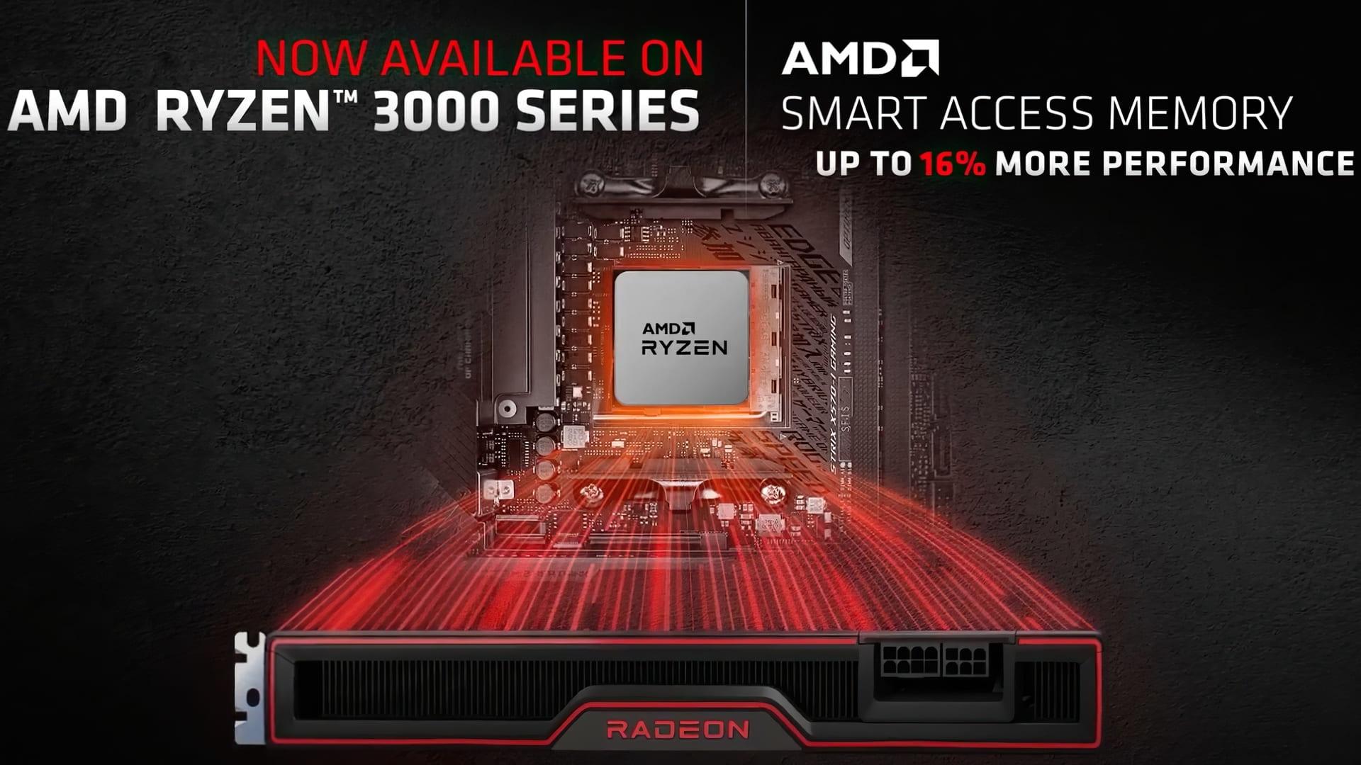 وأخيراً وبعد طول إنتظار ، شركة AMD ستقدم دعم SAM لمعالجات Ryzen 3000