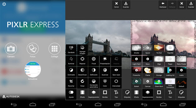 Pixlr تعديل الصور على تطبيق
