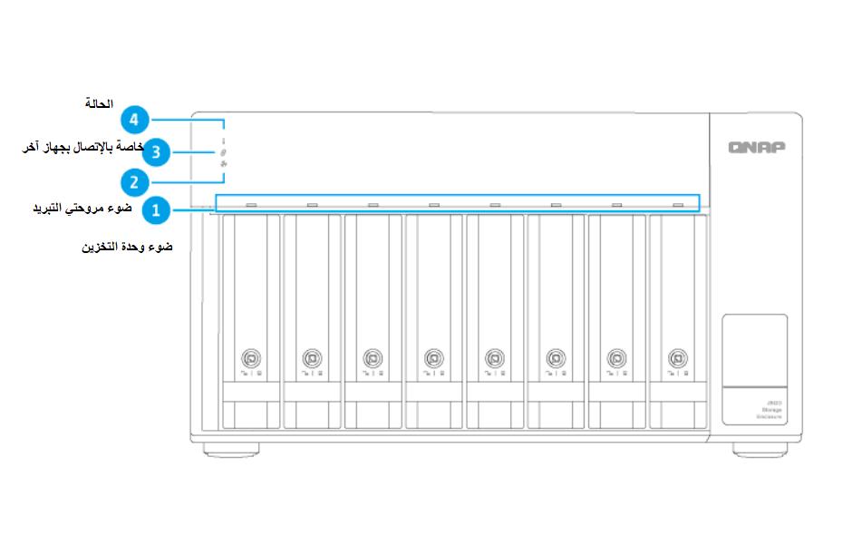 كيفية اعداد وتشغيل حاوية التخزين QNAP TL-D800C