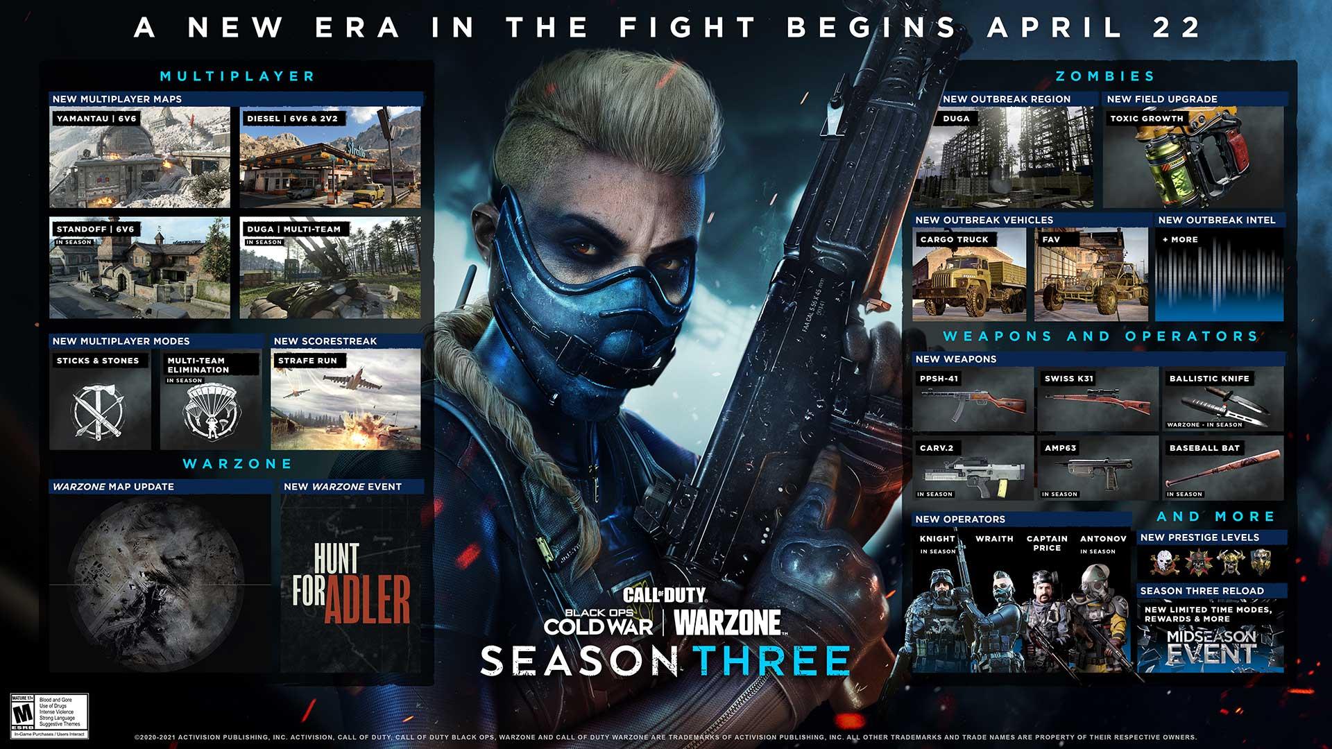 الموسم الثالث من Black Ops Cold War Warzone