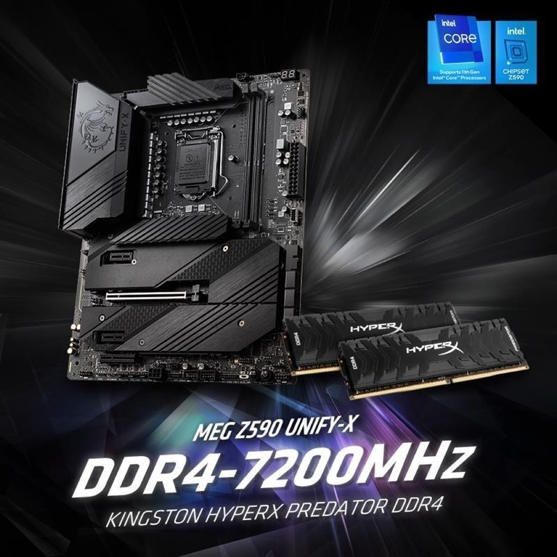 HyperX DDR4 Predator 7200 MHz Record