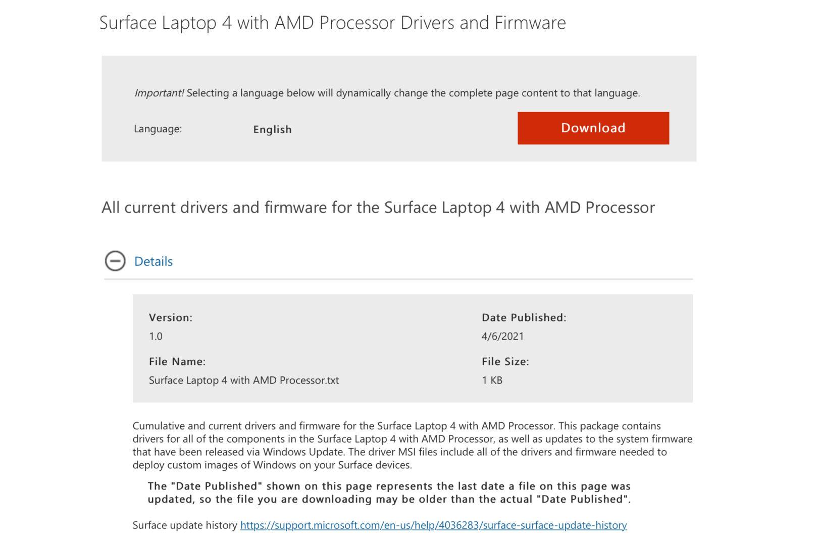 Microsoft Surface Laptop 4 AMD