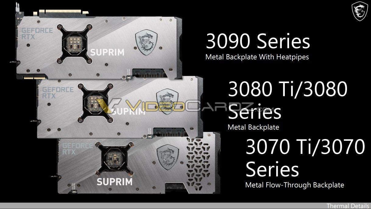 MSI GeForce RTX 3080 Ti RTX 3070 Ti
