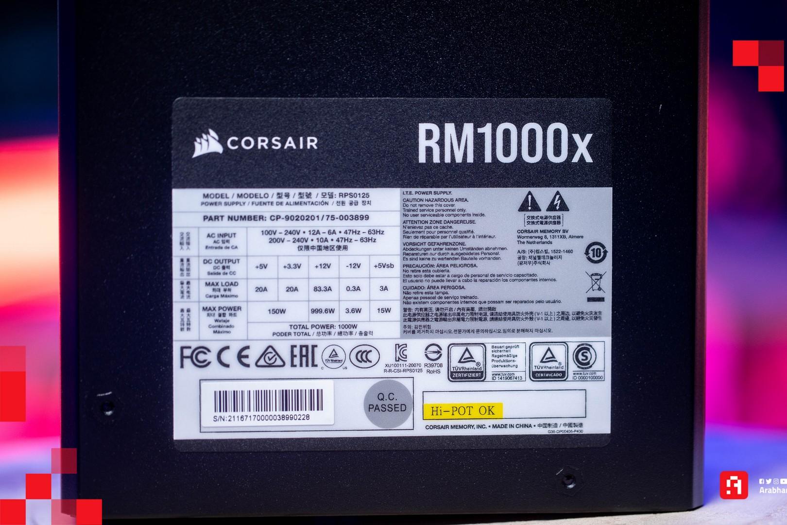 مزود الطاقة Corsair RM1000X 1