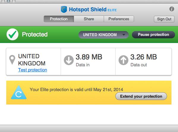 فتح المواقع المحجوبة بواسطة Hotspot Shield