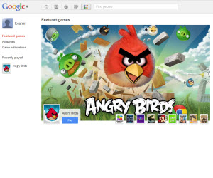 angry birds in google plus